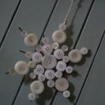 Estrela de Natal com botões