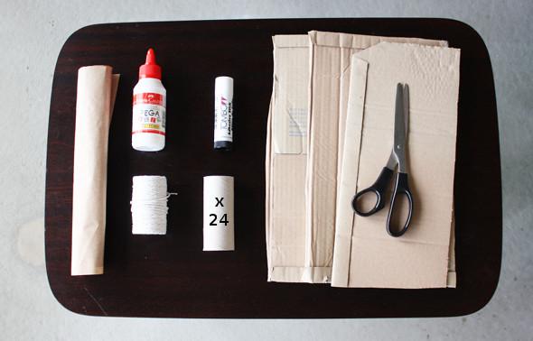 calendario de natal rolo papel higienico material