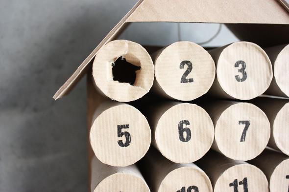 calendario de natal rolo papel higienico romper